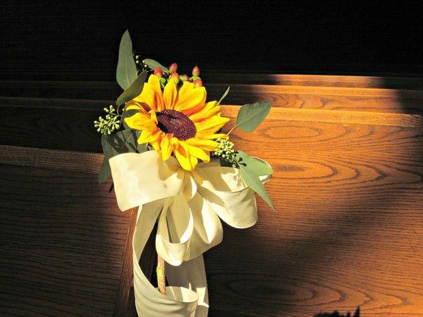 Reception And Ceremony Sunflower Wedding FlowersSunflower