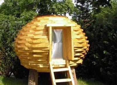 Una casa in legno fatta riciclando scarti di legno FSC