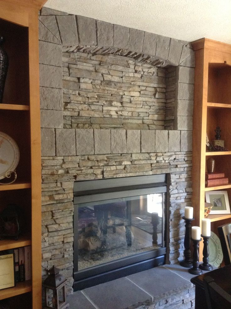 Stacked Stone Fireplace Favorites Pinterest Stacked