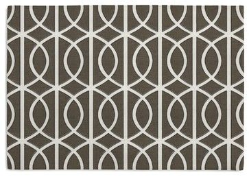 Taupe Modern Trellis Custom Placemat Set transitional-placemats
