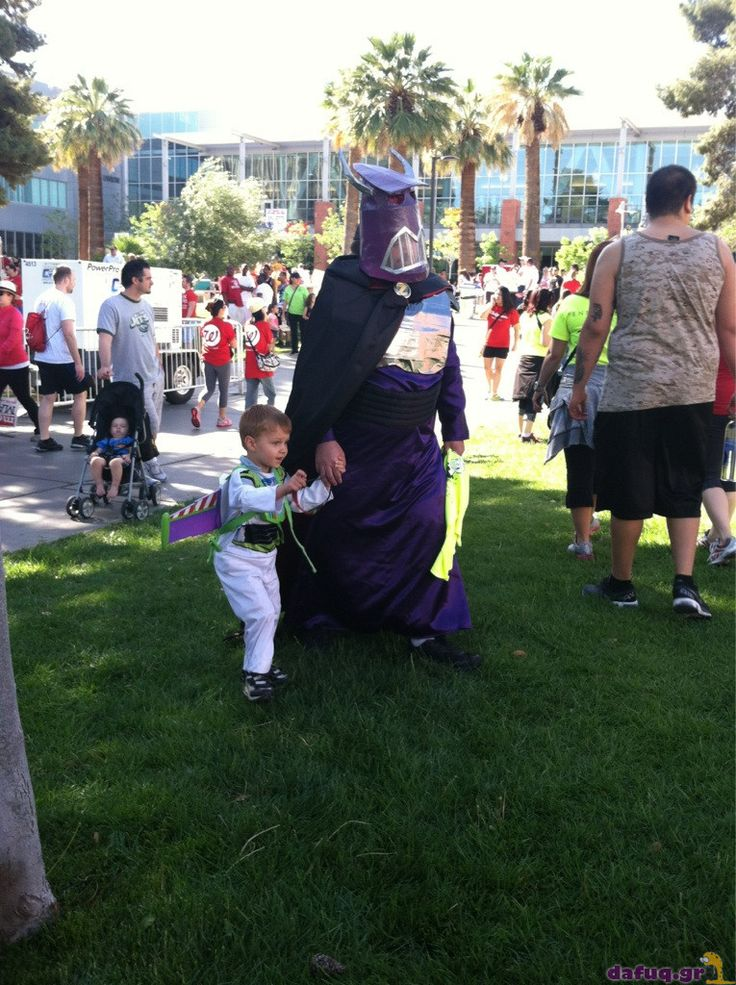 PARENTING: You're doing it right! Buzz & Zurg father & son costume win. #Toy_Story
