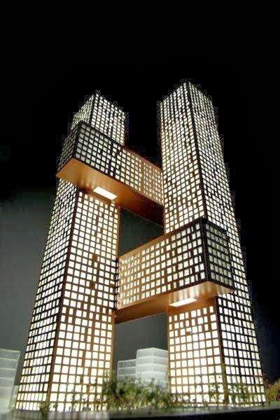 Wunderbare Architektur auf der ganzen Welt !!! Teil -1 – Cross Towers von BIG, Seoul …