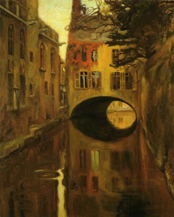 House over the Bridge - Diego Rivera
