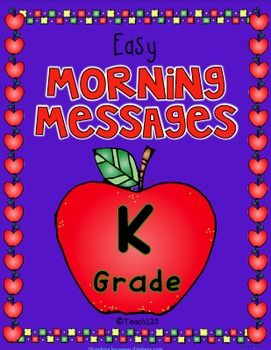 Morning work will be fun with these morning messages with fall, leaves, nursery rhyme, chores, piggy bank, park, recess, baseball, centers themes. Ten morning messages with a September theme that are aligned with Common Core are included in this packet.