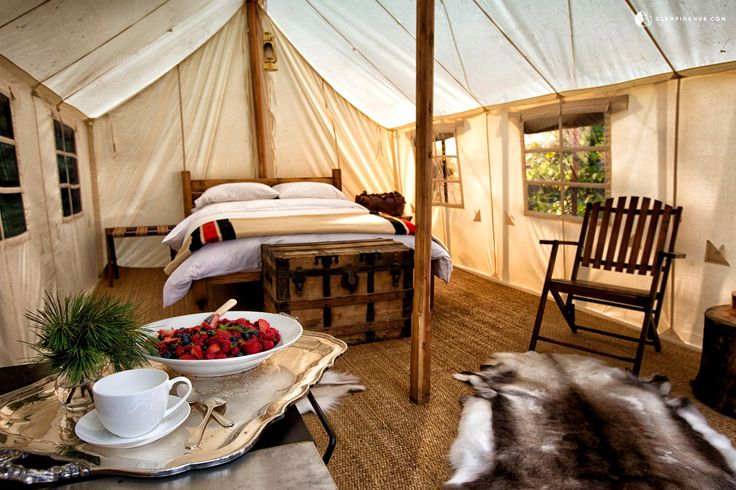 Luxury Tents Canada This glamping campground in Canada has four luxury tents…