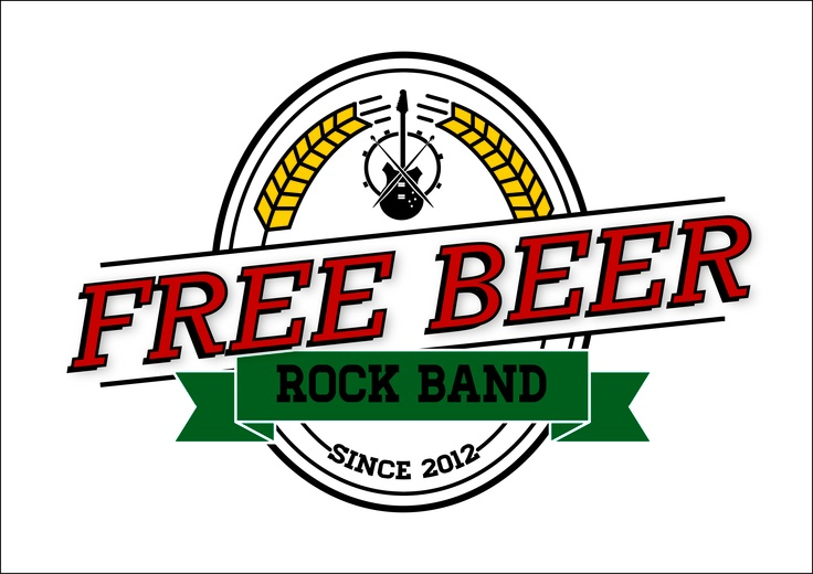 Made this logo for a friend's rock band,the Free Beer! I like the name