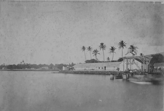 Old Lahaina, Maui. Vintage photo from state archives