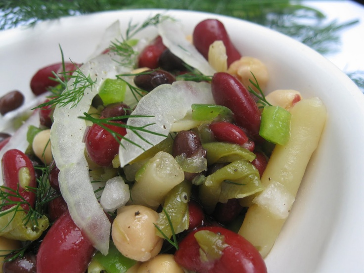 Quick and Easy 5 Bean Salad Recipe. #healthy #cooking