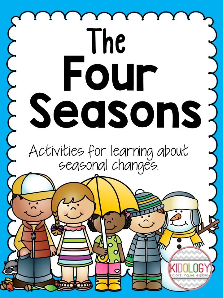 Activities to investigate the four seasons or seasonal changes.  Great compliment to your four seasons curriculum.  Great for kindergarten or grade one science.   $