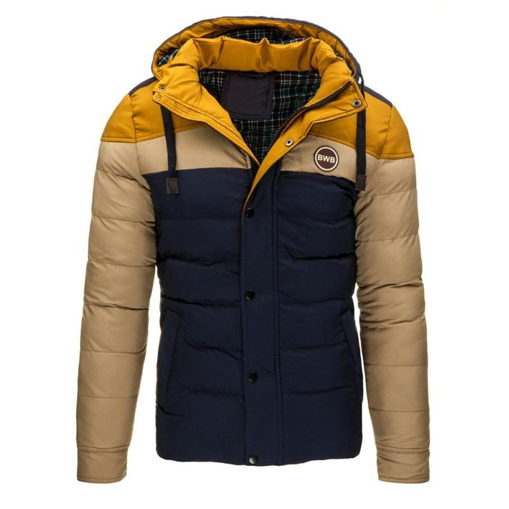 Pánská stylová zimní bunda béžová