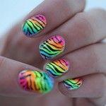Over the Rainbow – Funky Nail Art Idea