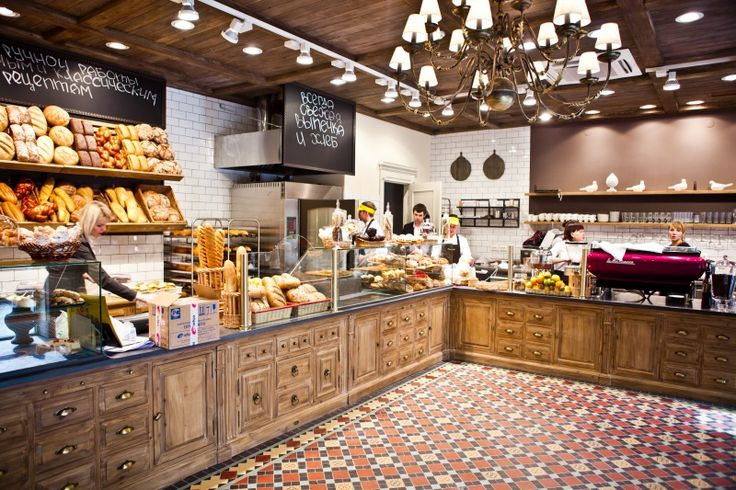 Фирменный дизайн интерьера сетевой пекарни «Поль Бейкери»