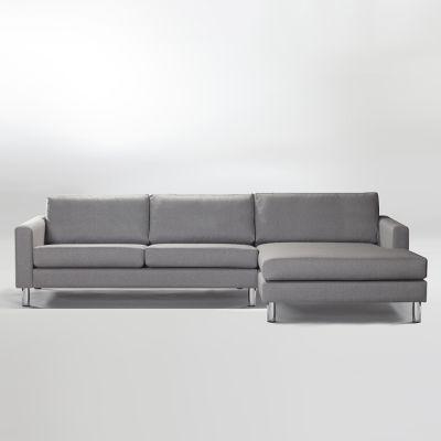 Ving 2,5 seter med høyre divan, askgrå