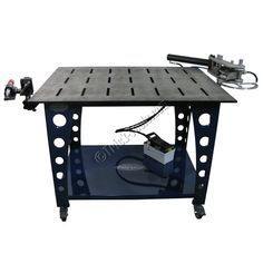 The JMR Deluxe Fab Station puts all of your tube fabrication needs at your fingertips! An air hydraulic tubing bender, notcher and 3x4 welding table, highly portable on casters. Welding Table
