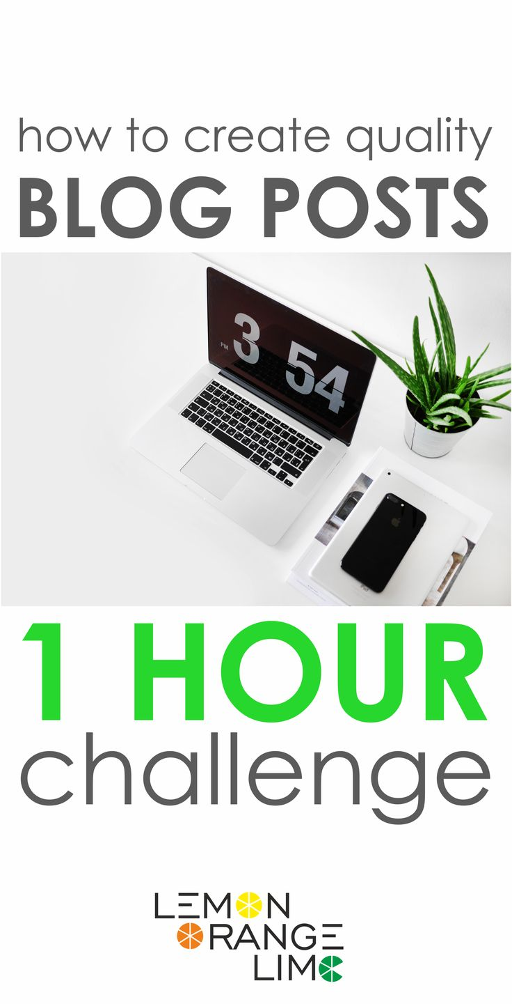 How to write a blog post in less than 1 hour! Good quality blog posts 1 hour challenge! Create a valuable content on the blog.  Blogging Ideas, Blogging Tips, Blog Post Ideas