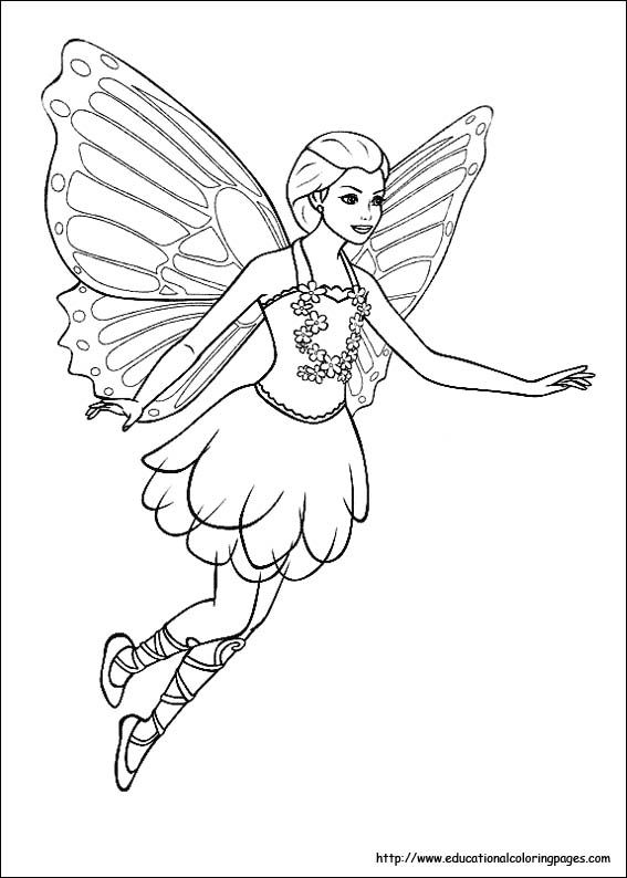 fairy child coloring pages - photo#3
