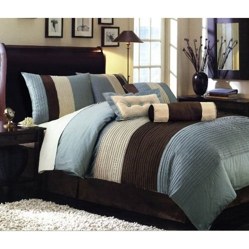 idea for MB bed brown with blue accents . . .