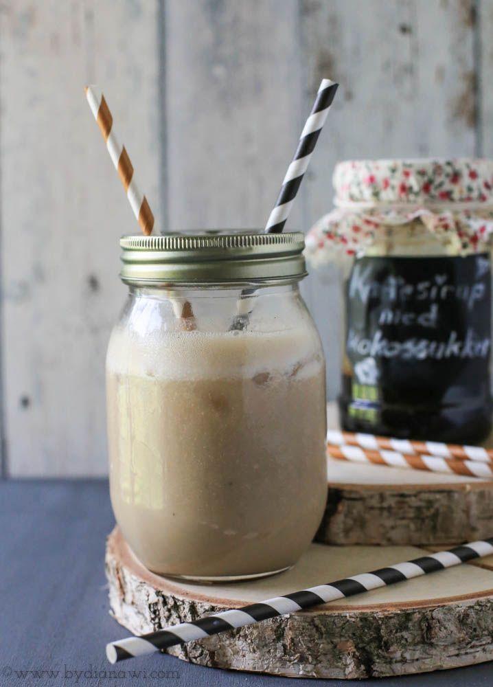 Opskrift på hjemmelavet kaffesirup med kokossukker