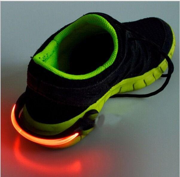 clip pulsera luz led seguridad para zapatos ciclismo correr