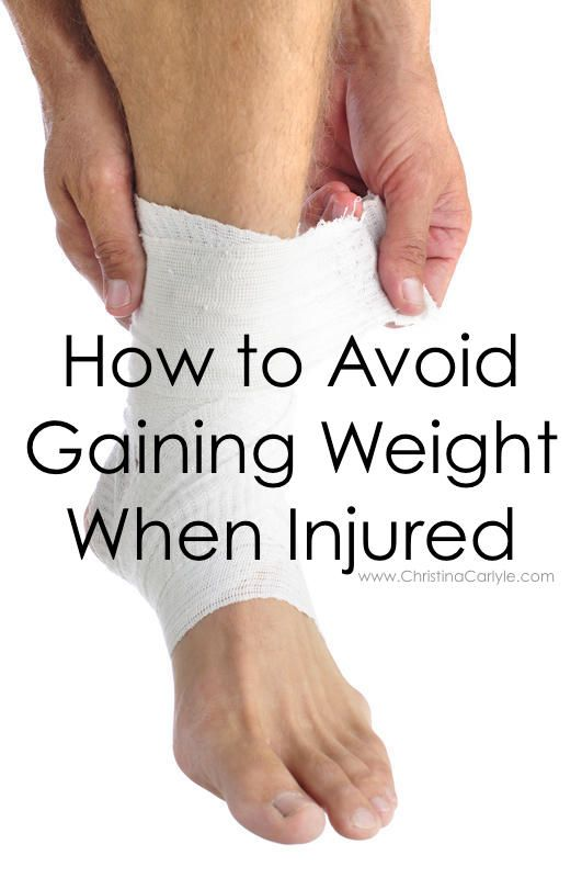 How to avoid gaining weight when injured