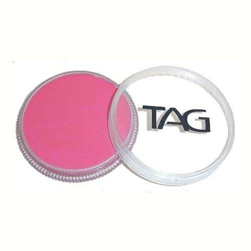 TAG Face Paints - Pink (32 gm) by TAG Body Art. $6.47. TAG face paint is hypoallergenic and made with non-toxic, skin safe ingredients.. Each 32 gram TAG Face Paint Container is good for 50-200 applications.. Great for line work. TAG Face Paint is very easy to blend, soft on the skin and does not crack or peel.. TAG Pink Face Paint is very easy to blend, soft on the skin and does not crack or peel. Most of TAGs face painting colors are great for line work and lighter face painti...