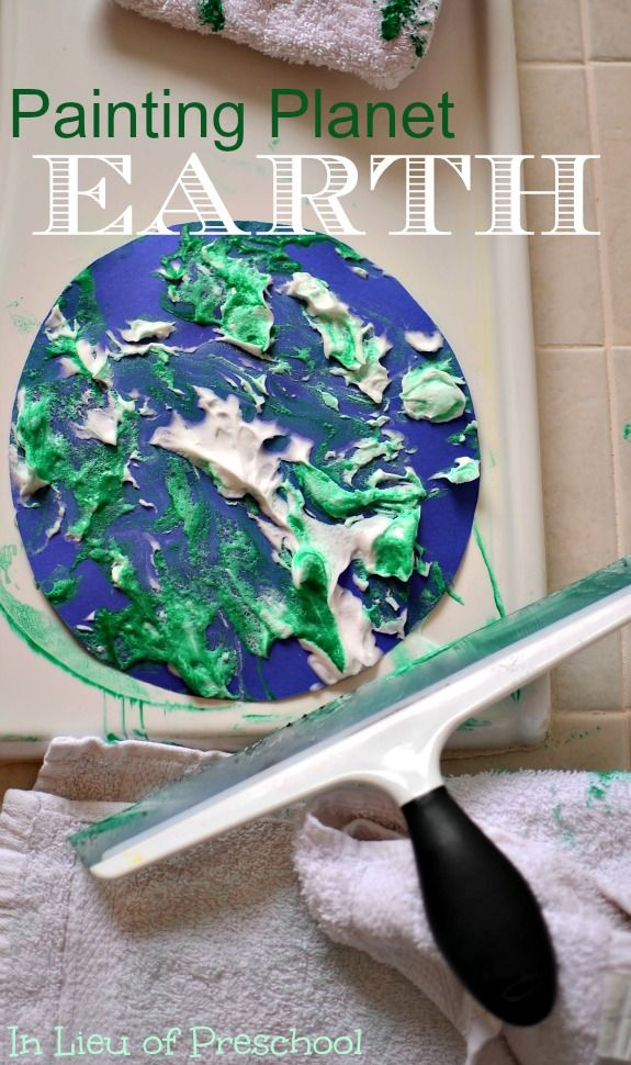 Planet Earth Paintings - Process Art for Kids