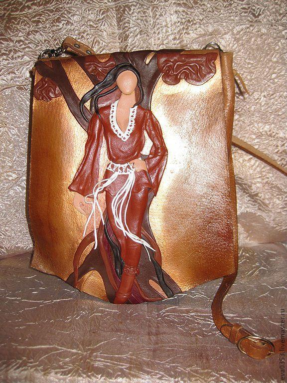 Купить Сумка с декором из натуральной кожи - рисунок, сумка женская, сумочка…