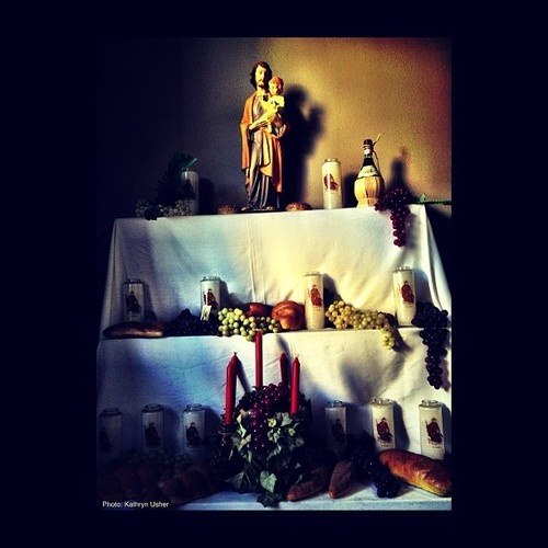 Feast of St Joseph altar, New Orleans