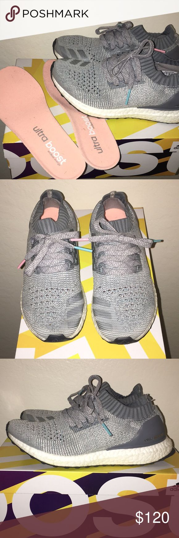 UltraBOOST Uncaged Light Grey UltraBoosts with subtle pink details. Size 6.5 in women's. Great condition, only used a few times. Let me know if you need anymore pictures! adidas Shoes Athletic Shoes
