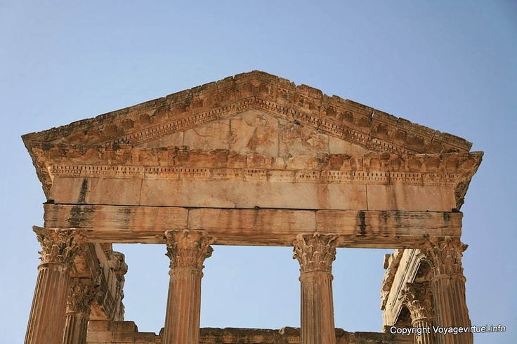 Dougga Capitole Apotheose D Antonin Le Pieux - Tunisie