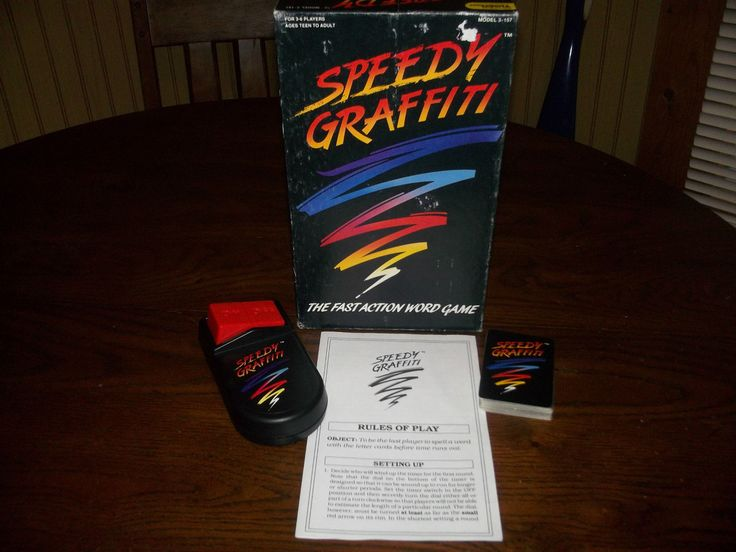 "Tiger ""Speedy Graffiti"" game"