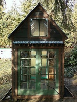 Bob Bowling custom creates sheds, chicken coops, greenhouses, playhouses...you name it! He makes them from reclaimed and recycled material.