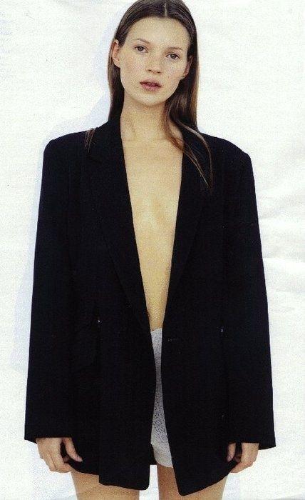 Kate Moss Black jacket Classic  No make up