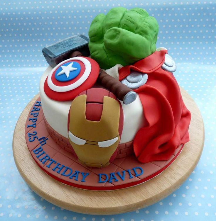 Avengers Birthday Cake Design : Marvel, Avengers Cake Nicholas 21st Pinterest ...