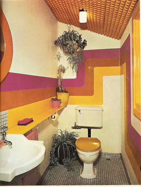 70's powder room #Pop Art# Lovely