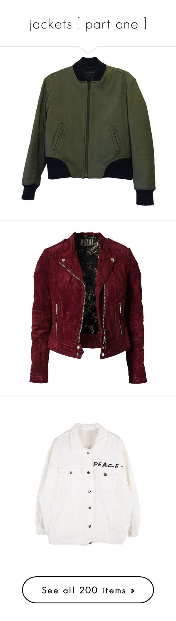 """""""jackets [ part one ]"""" by y0ur-aw3s0m3-an0ns ❤ liked on Polyvore featuring outerwear, jackets, tops, coats & jackets, none, military leather jacket, green jacket, leather bomber jacket, bomber jacket and real leather jackets"""