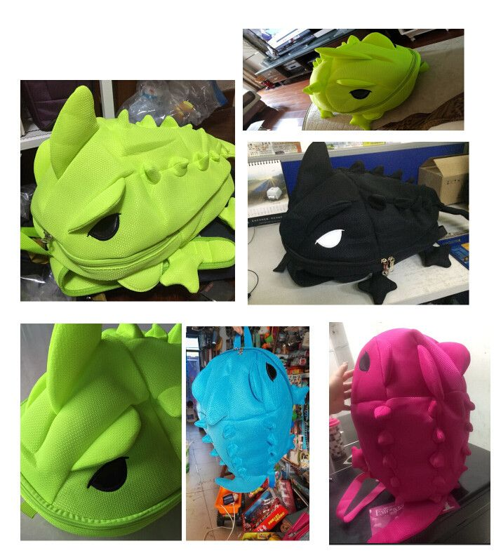 2016 женщин конструктора рюкзаки мультфильм животных школы для подростков девушки парни хамелеон ящерица путешествия спортивная сумка купить на AliExpress