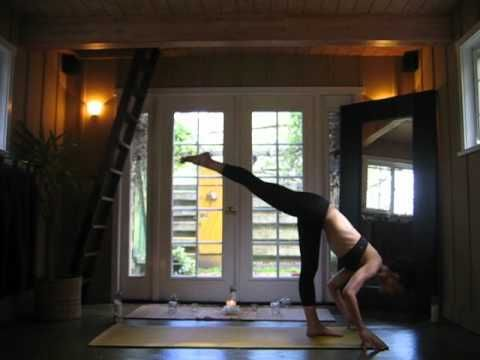 Probably the most graceful yoga vinyasa flow I've ever seen. I want to be that graceful and flexible!