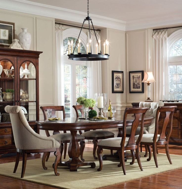 Home Gallery Furniture For Formal Tables, 7 Pc Margaux Oval Double Pedestal Table  Dining