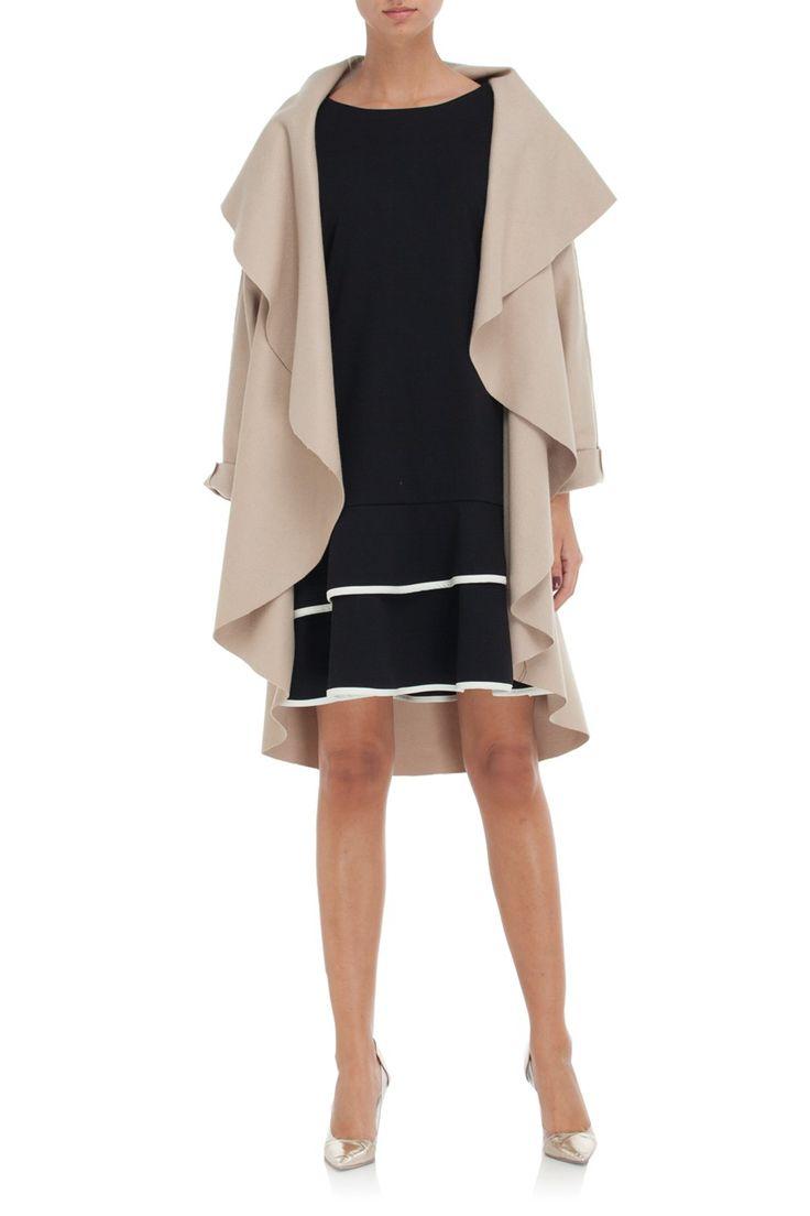 Płaszcz oversize ecru