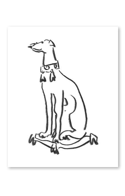 'A Statue of a Greyhound' by Luke Edward Hall for @buddyeditions
