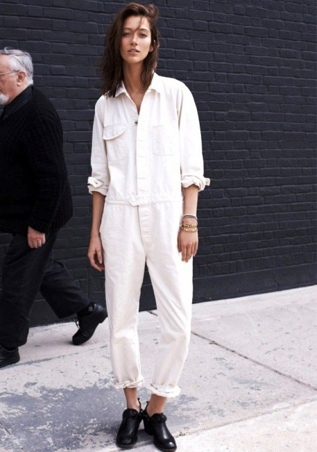 A Model's Take On The White Utility Jumpsuit