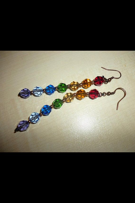 Colorful Swarovski earrings by dodimatto on Etsy