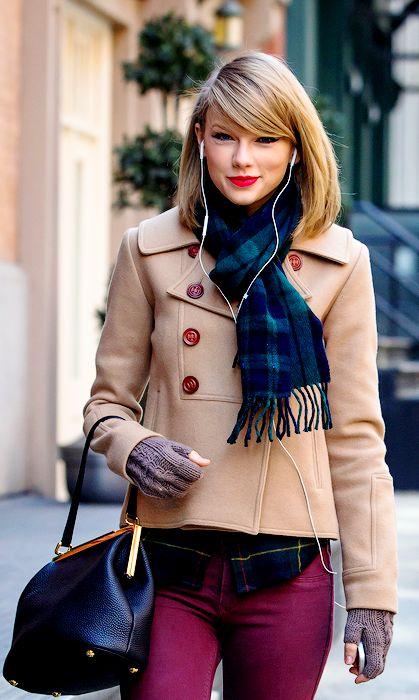 "Taylor Swift long bob with bangs                                                                                                                    <button class=""Button Module borderless hasText vaseButton"" type=""button"">        <span class=""buttonText"">                          More         </span>          </button>"