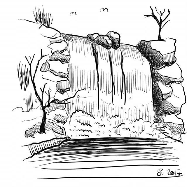Daily sketch 0037 - How to Draw A waterfall  My Daily sketch - by Brian Kristensen How to Draw A #waterfall  #Practice #DailyPic #DailySketch #DailyDrawing #Drawing #Sketching #Progress #HowTo #HowToDraw #Video #Sketch #DIY #vandfald  Please comment with critic so i Can practice my #illustration skills.  See all sketches on my blog: http://blog.briankristensen.dk/category/sketch/daily_sketch/