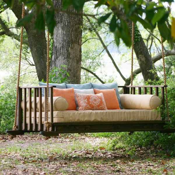 17 best images about porch swing hanging idea on for Outdoor hanging bed swing