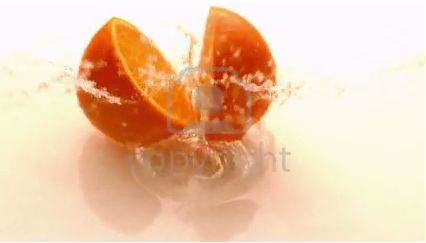 Stock Footage: Orange halves falling and bouncing on white wet surface in slow motion | ID:28574923 @ 123RF.com #stockfootage #stockvideo