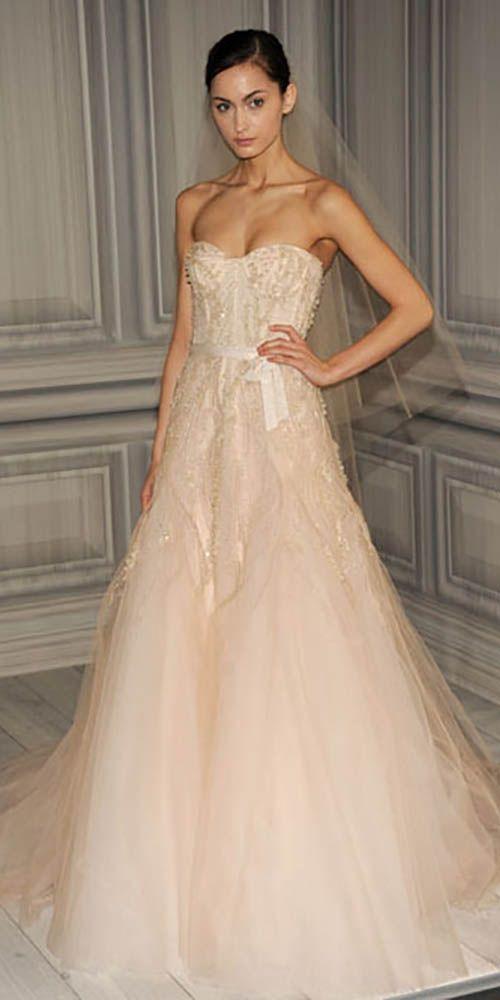 18 peach blush wedding dresses you must see 3
