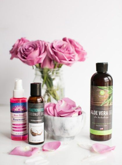 Homemade Anti Frizz Spray with Aloe and Rosewater