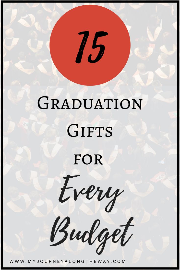 15 graduation gift ideas for every budget. College or high school graduate, girl or guy.